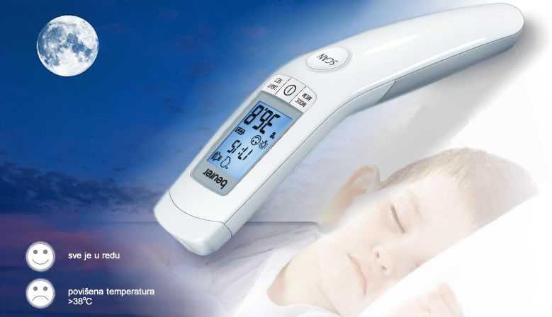 Beskontaktni infracrveni klinički termometar